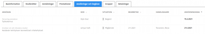 Skärmdump av Sisus användargränssnitt.